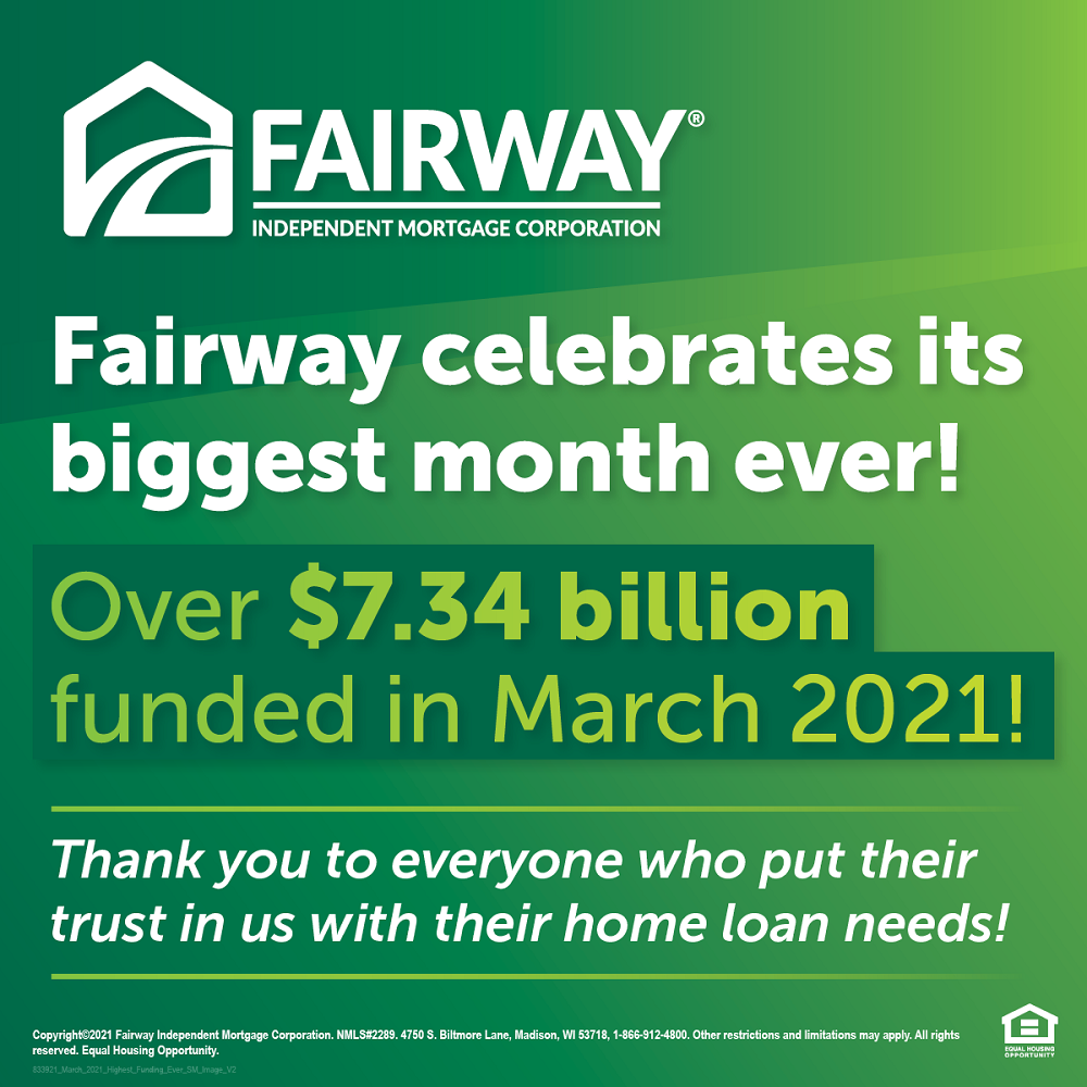 Fairway Experiences Biggest Month in History